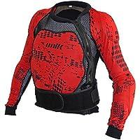 UNIK - Peto integral con protecciones de espuma Negro/Rojo Talla XL