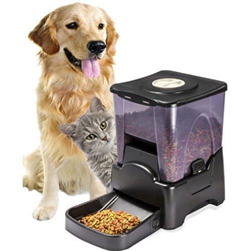 OxGord Pet Feeder Dog Cat : Automatic Programmable Animal Food Bowl Auto (Ergo Cat)