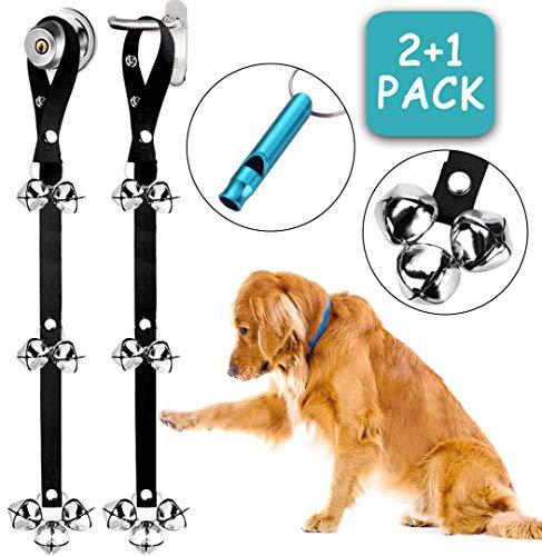BLUETREE 2 Pack Dog Doorbells Premium Quality Training Potty Great Dog Bells Adjustable Door Bell Dog Bells for Potty…