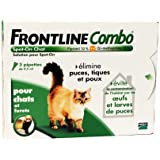 Merial - Chats - FRONTLINE COMBO - Chat - 3pip - Anti-puce, anti-tique