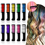 #1: HAIR CHALKS BIRTHDAY GIRLS GIFT - 10 Colorful Hair Chalk Comb Set Washable Color for Kids Hair Dyeing Party, Cosplay