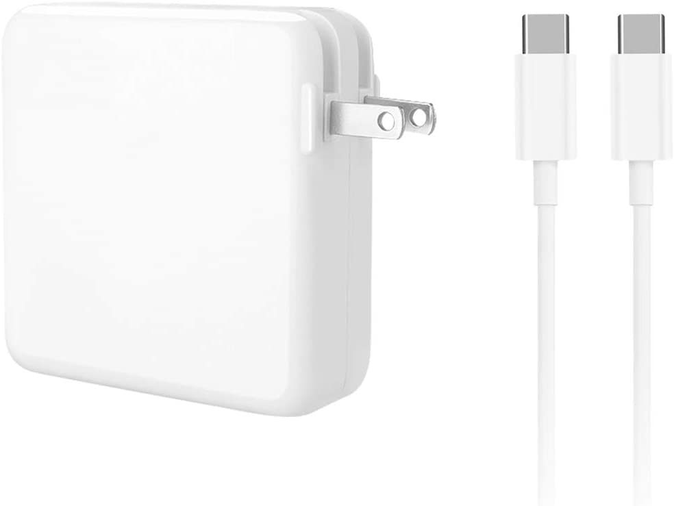 Replacement MacBook Pro Charger, 61W Power Adapter for MacBook Pro 15, 13 inch, MacBook Air 13 inch 2020/2019/2018 (Include 6.6ft USB C Cable)