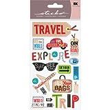EK Success Brands Decorative Sticko Stickers, Happy Traveling