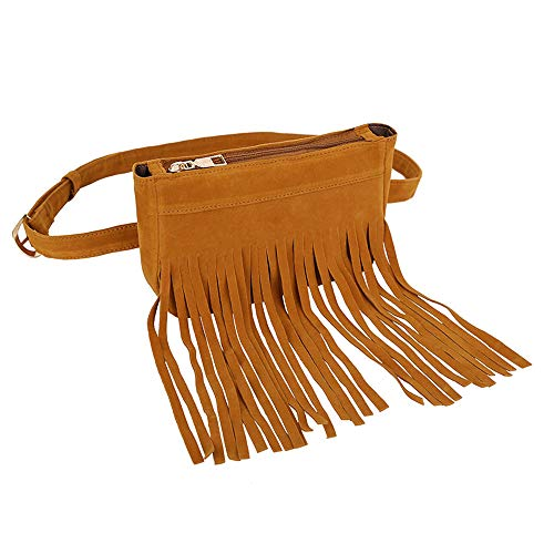 Black Clearance Tassel Bags Women Fringe Messenger Waist Brown Bag Iuhan Women Suede Bag Handbag Hobo Bag Tassels Women's Messenger Chest Hippie zqH1txfww
