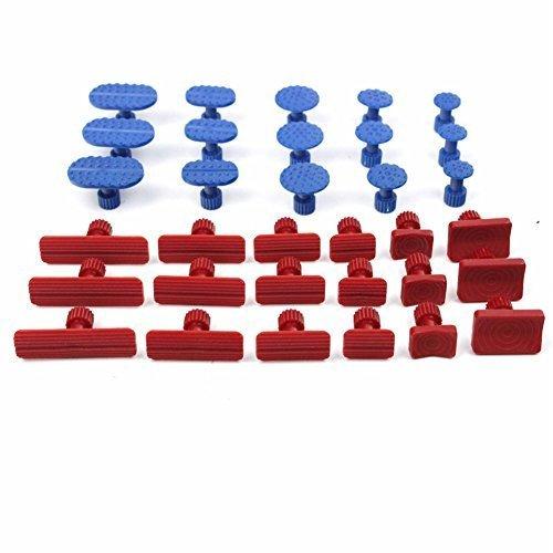 33Pcs Glue Pulling Tabs Paintless Dent Removal Repair Kit Auto Body Dent Repair Tool Car Dent Removal Body Repair Kit by VAlink
