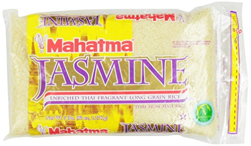 Mahatma Jasmine Rice Enriched Thai Fragrant Long Grain Rice 5lb by Mahatma