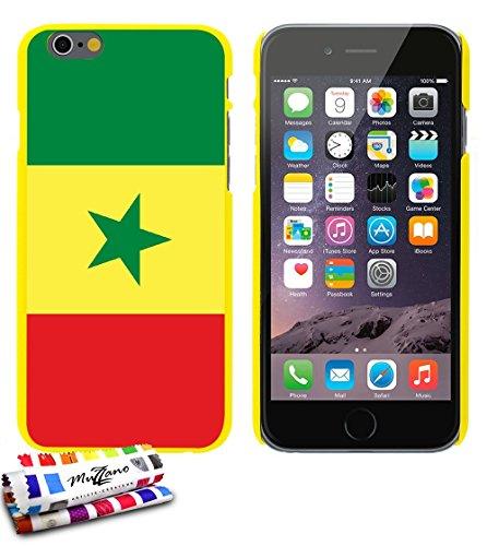 Ultraflache weiche Schutzhülle APPLE IPHONE 6 4.7 POUCES  [Flagge Senegal] [Gelb] von MUZZANO + STIFT und MICROFASERTUCH MUZZANO® GRATIS - Das ULTIMATIVE, ELEGANTE UND LANGLEBIGE Schutz-Case für Ihr A