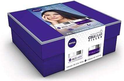 NIVEA Pack Hyalurron Cellular Filler Crema Antiedad Día FP30 y ...