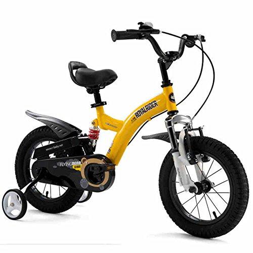 XQ- TY-107 Garçon Fille 14/12/16/18 Pouce Bicyclette Antichoc Bicyclette Pour Enfants - Jaune