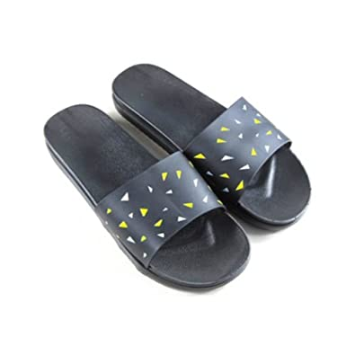 TELLW boys girls children cool slippers wooden flooring Parent-child home  slippers Beach shoes for