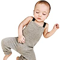 Sikye Little Boy Overalls Newborn Baby Knitted Rompers Jumpsuit Sleeveless Outfits