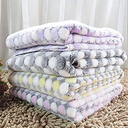 jingyuu Decke Baumwolle Decke Kinderwagen Winter Patrol Decke Couch Kinderwagen Winter Baby Decke Light Gray-White Circle-Purple Circle(1pcs)