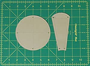 "Dresden Plate Curved Quilting Templates with 1/4"" Seam Allowance - 16"" Block - 2 Piece Acrylic Template Set"