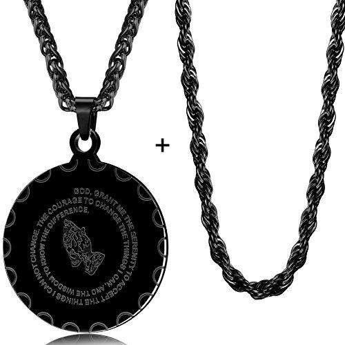 black stainless steel pendant - 2