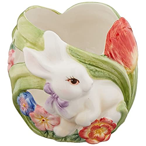 Ceramic easter gifts amazon cosmos 10441 fine porcelain bunny tea light holder 3 14 inch negle Image collections