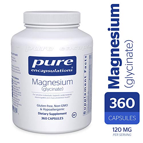Free Test 100 Capsules - Pure Encapsulations - Magnesium (Glycinate) - Supports Enzymatic and Physiological Functions* - 360 Capsules