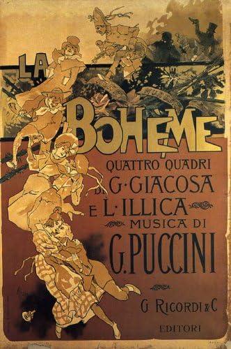 "Puccini Theater Show 16/""X20/"" Vintage Poster FREE SH La Boheme Opera Music by G"