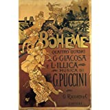 "La Boheme Music of G. Puccini Theater Show Italy Italia Italian 20"" X 30"" Image Size Vintage Poster Reproduction"