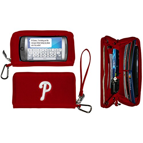 Charm14 Women's MLB Deluxe Touch Wallet, Red, 7.5