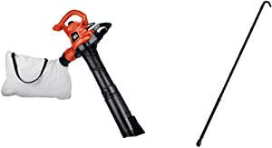 BLACK+DECKER 3-in-1 Electric Leaf Blower with Quick Connect Gutter Cleaner Attachment (BV3600 & BZOBL50)