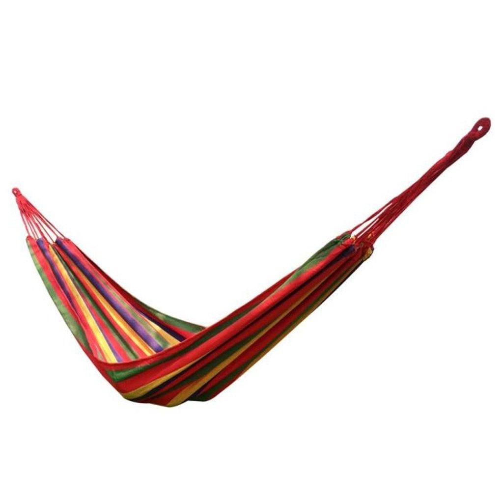 YY Hängematte Stripe Hängematte Outdoor 2 Personen Tragbare Camping Tourismus 200 × 150 cm 2 Farbe Optional