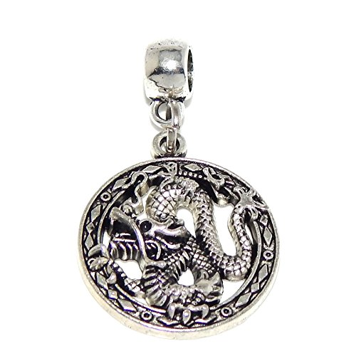 "Jewelry Monster Dangling ""Chinese Dragon"" Charm Bead 45811"