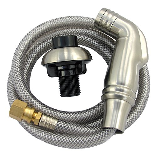 LASCO 08-1537 Kitchen Spray Head and Hose Assembly, Satin (Spray Satin Nickel Kitchen)