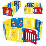 Kidzone Baby Playpen Kids 8 Panel Safety Play Center...