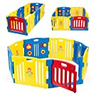 Kidzone© Baby Playpen Kids 8 Panel Safety Play Center Yard Home Indoor Outdoor Pen (Blue)