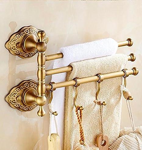 LHbox Tap Toallas de baño, Estante, Montaje en Pared, la estantería Llena de Material de Cobre 3 Rotary Club: Amazon.es: Hogar
