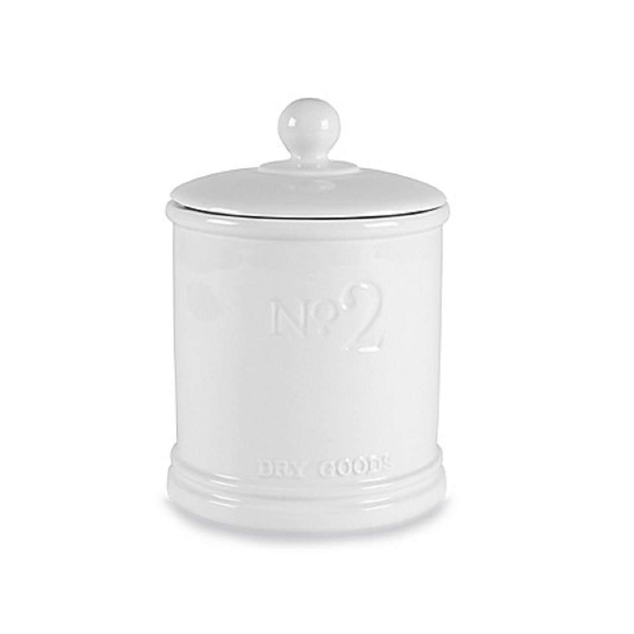 Fitz and Floyd Everyday White Medium Numbers Canister Charm to our Kitchen, White