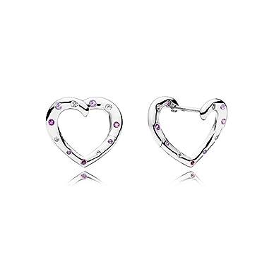 Pandora Women Silver Hoop Earrings - 297231NRPMX zfSNdCg6N