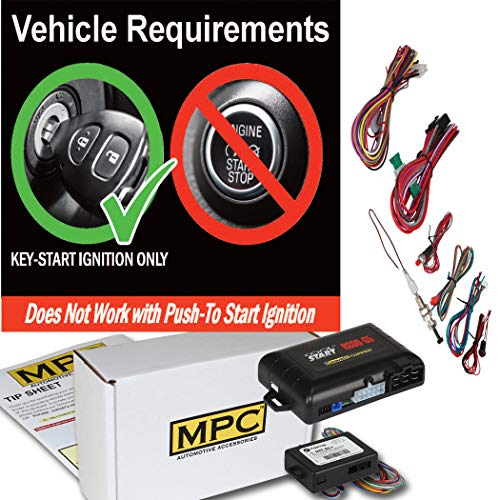 MPC Factory Remote Activated Remote Start Kit for 2000-2005 Chevrolet Impala - Includes Bypass - Firmware Preloaded (2005 Chevy Impala Remote Start)