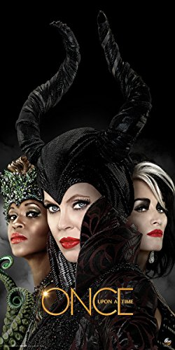 Once Upon a Time Evil Queens (Ursula, Cruella, Maleficent) Fantasy Drama Fairy Tale TV Television Show Print (Unframed 12x24 -