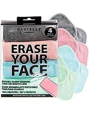 Make-up Removing Cloths 4 Count, Pastel, Erase Your Face By Danielle Enterprises