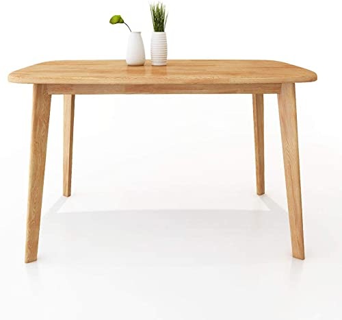 Modern Dining Table Mid Century Wood Dining Room Kitchen Table Natural Wood YCZL-1200