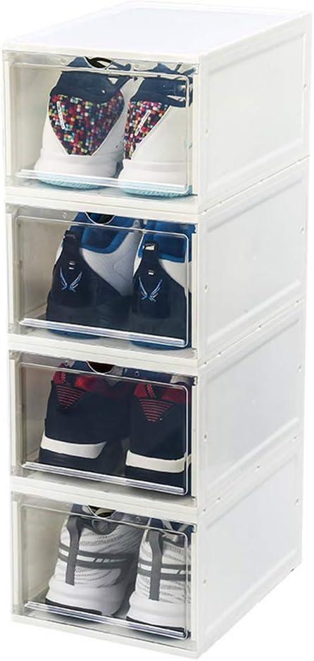 LHY SAVE Cajas Zapatos Plástico Transparente Apilables Cajas De ...