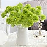 Ewer 10Pcs Artificial Dandelion Flowers, 13'' Multicolor Plastic Artificial Dandelion Ball for Home Garden Party Wedding Decor, Single Branch Fake Hydrangea Dandelion