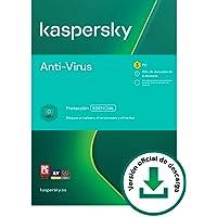 Kaspersky Anti-Virus 2021 | 3 PCs | 1 Año | PC | Código de activación vía correo electrónico
