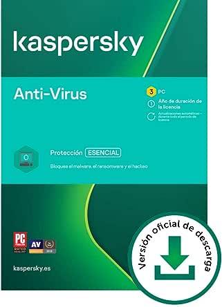 Kaspersky Anti-Virus 2021   3 PCs   1 Año   PC   Código de ...