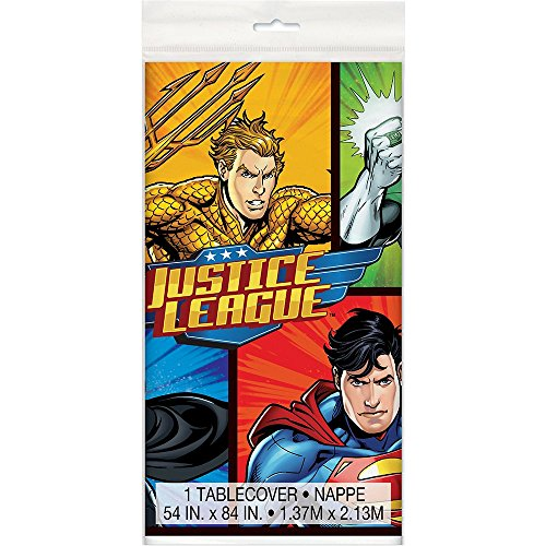 Unique Justice League Plastic Tablecloth, 84
