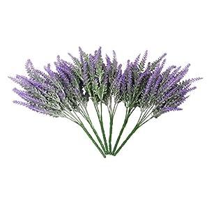 TYEERDEC Artificial Flowers 6 Bundles Lavender Bouquet for Wedding Home Office Decoration - Purple 3