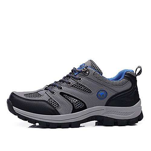 Climbing PU A Shoes Comfort HUAN up Athletic Running Men's Summer Spring Mountain for New Shoes Lace Shoes Athletic Shoes Hiking Travel Tulle Outdoor qxE4RB