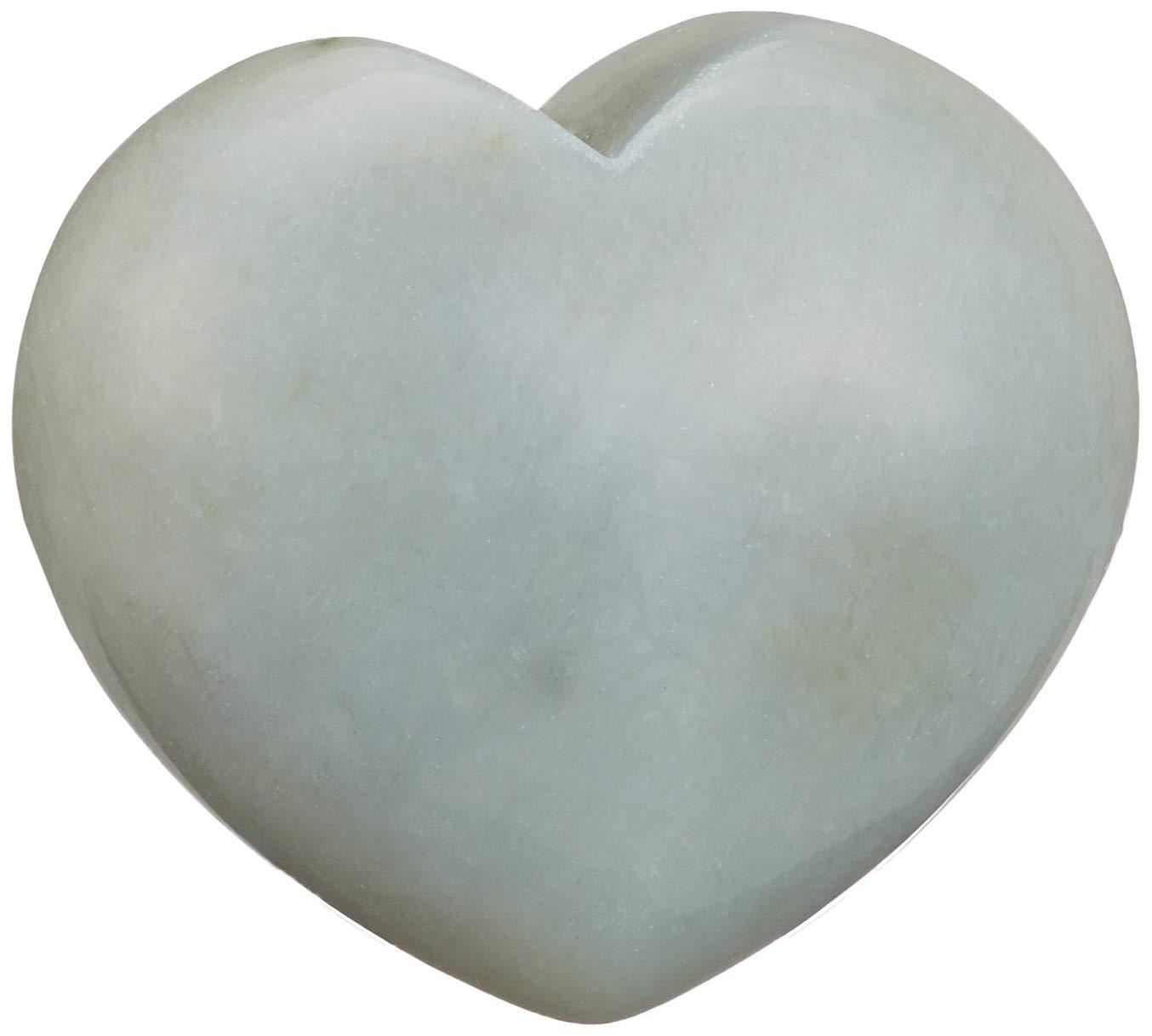 Stone Green Steengoed Heart Chinese Jade 40 mm 3.5 x 4 x 1 cm