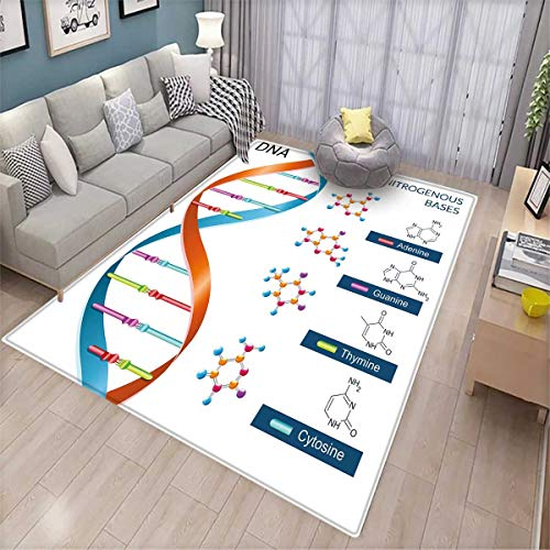 Price comparison product image Educational Bath Mats for Floors DNA Bases Chemistry Biochemistry Biotechnology Science Spiral Symbol Genetic Door Mat Indoors Bathroom Mats Non Slip Multicolor