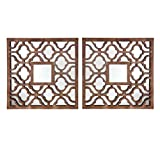 Southern Enterprises Roxford Decorative Square Wall Mirror, Set of 2