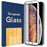 Screen Protector for Apple iPhone Xs Max (6.5 inch) HD Clear 2.5D Curved Edge iPhone Xs Max Tempered Glass Screen Protector 3D Touch with 99% Touch Accurate Guidance Frame Included(2 Pack)