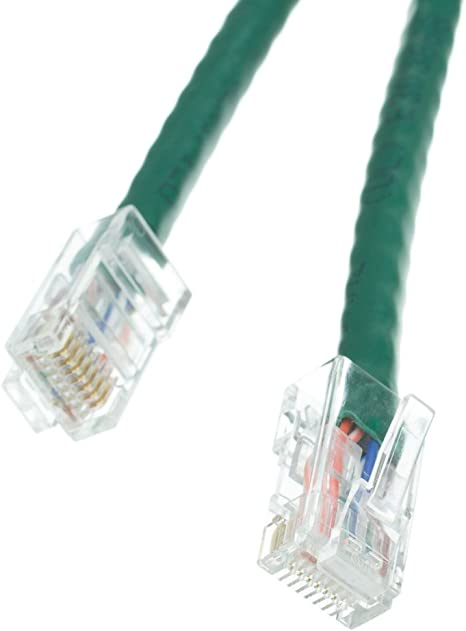 25 Foot Bootless Cat5e Green Ethernet Patch Cable