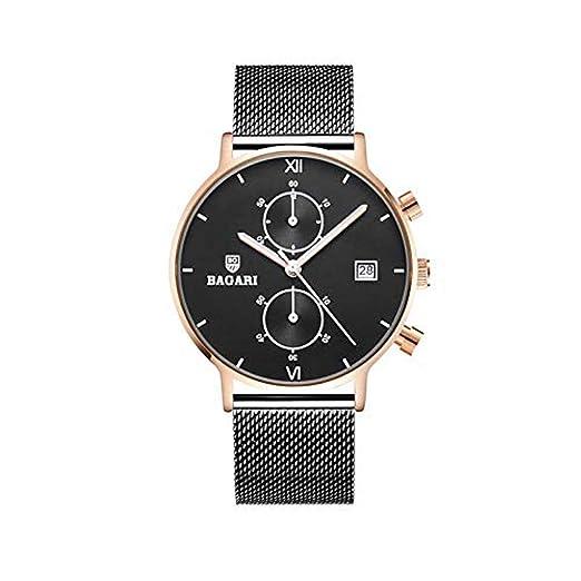 Hermosos Relojes No Data / 2018 Moda Reloj Deportivo multifuncion Malla cinturón de Cinco Hombres Reloj Ultra Delgada Aguja: Amazon.es: Relojes