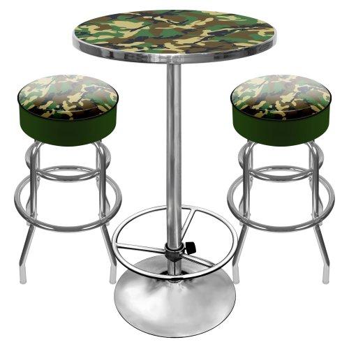 Hunt Camo Ultimate Gameroom Combo - 2 Bar Stools & Pub Table